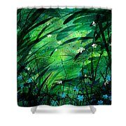 Lost In Paradise Shower Curtain by Rachel Christine Nowicki