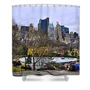 Love In Central Park Too Shower Curtain by Randy Aveille