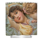 Love's Whispers Shower Curtain by NP Davies