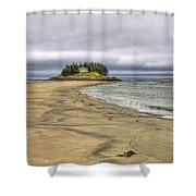 Low Tide In Popham Beach Maine Shower Curtain by Tammy Wetzel