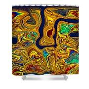 LSD Shower Curtain by Omaste Witkowski