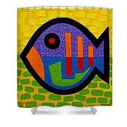 Lucky Fish II  Shower Curtain by John  Nolan