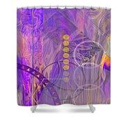 Lunar Impressions 3 Shower Curtain by John Robert Beck