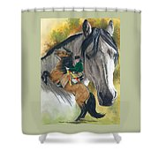 Lusitano Shower Curtain by Barbara Keith