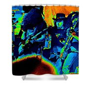 Lynyrd Skynyrd Pastel Oakland 2 Shower Curtain by Ben Upham