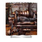 Machinist - Steampunk - 5 Speed Semi Automatic Shower Curtain by Mike Savad
