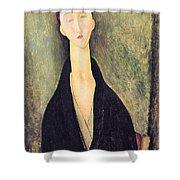Madame Hanka Zborowska Shower Curtain by Amedeo Modigliani