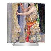 Mademoiselle Fleury In Algerian Costume Shower Curtain by Pierre Auguste Renoir