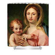 Madonna and Child Shower Curtain by Anton Raphael Mengs