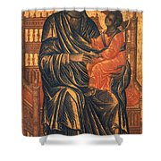 Madonna Icon, 13th Century Shower Curtain by Granger