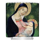 Madonna Of The Fir Tree Shower Curtain by Marianne Stokes