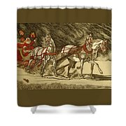 Magical Christmas Shower Curtain by Melita Safran