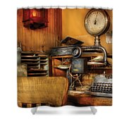 Mailman - In The Office Shower Curtain by Mike Savad
