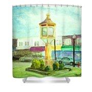 Main Street Shower Curtain by Sheila Mashaw