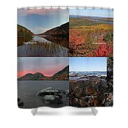 Maine Acadia National Park Landscape Photography Shower Curtain by Juergen Roth
