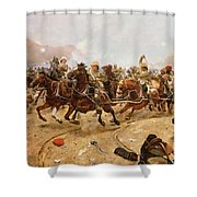 Maiwand Shower Curtain by Richard Caton II Woodville