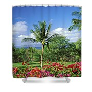 Makena Beach Golf Course Shower Curtain by Peter French - Printscapes