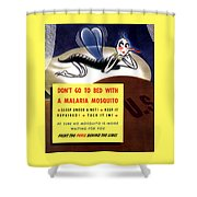 Malaria Mosquito Shower Curtain by War Is Hell Store