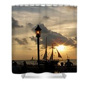 Mallory Square Key West Shower Curtain by Susanne Van Hulst