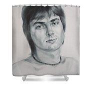 Man Shower Curtain by Sergey Ignatenko