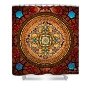 Mandala Arabia Shower Curtain by Bedros Awak