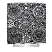 Mandala Bouquet Shower Curtain by Matthew Ridgway