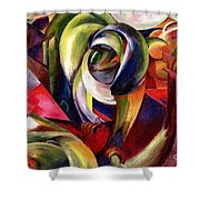 Mandrill Shower Curtain by Franz Marc