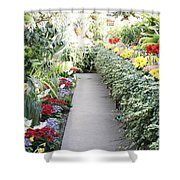 Manito Park Conservatory Shower Curtain by Carol Groenen