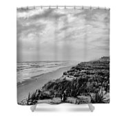 Mantoloking Beach - Jersey Shore Shower Curtain by Angie Tirado
