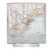Map Of The Colonies Of North America At The Time Of The Declaration Of Independence Shower Curtain by American School