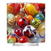 Marbles Close Up Shower Curtain by Garry Gay