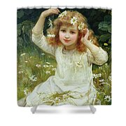 Marguerites Shower Curtain by Frederick Morgan