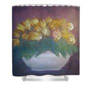 Marigolds Shower Curtain by Sheila Mashaw