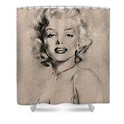 Marilyn Monroe Shower Curtain by Ylli Haruni