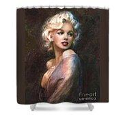Marilyn Romantic Ww 1 Shower Curtain by Theo Danella
