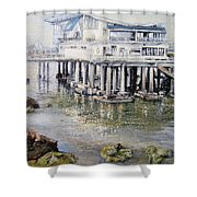 Maritim Club Castro Urdiales Shower Curtain by Tomas Castano