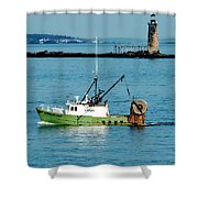 Maritime Shower Curtain by Greg Fortier