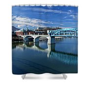 Market Street Bridge  Shower Curtain by Tom and Pat Cory