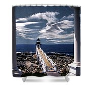 MARSHALL POINT LIGHTHOUSE MAINE Shower Curtain by Skip Willits