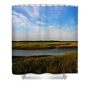 Marshland Charleston South Carolina Shower Curtain by Susanne Van Hulst