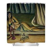 Mary Jane Addington Shower Curtain by C S