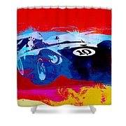 Maserati On The Race Track 1 Shower Curtain by Naxart Studio