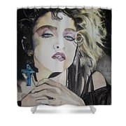 Material Girl Shower Curtain by Lance Gebhardt