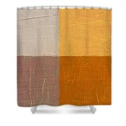 Mauve And Peach Shower Curtain by Michelle Calkins