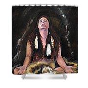 Medicine Woman Shower Curtain by J W Baker