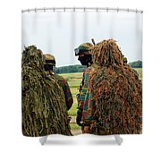 Members Of The Special Forces Group Shower Curtain by Luc De Jaeger