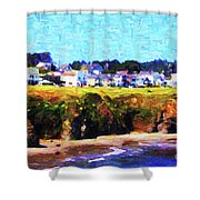 Mendocino Bluffs Shower Curtain by Wingsdomain Art and Photography