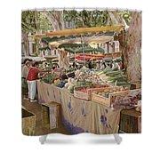 mercato provenzale Shower Curtain by Guido Borelli