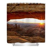 Mesa Arch Sunrise - Canyonlands National Park - Moab Utah Shower Curtain by Brian Harig