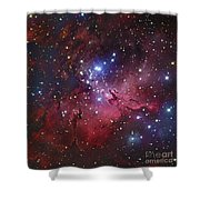 Messier 16, The Eagle Nebula In Serpens Shower Curtain by Robert Gendler
